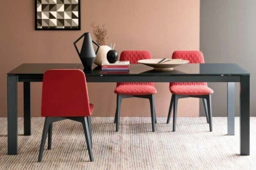 Стол CONNUBIA/Calligaris - модель BARON 160(+60)x85 стекло Frosted Grey