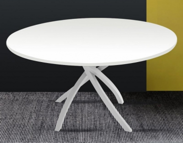 Стол CONNUBIA/Calligaris - модель TWISTER Ø120 MATERICO WHITE