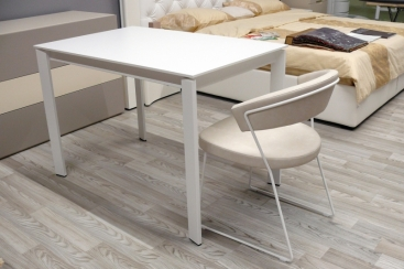 Стол CONNUBIA/Calligaris - модель EMINENCE M 110(+45) х 70 ламинат MATT OPTIC WHITE