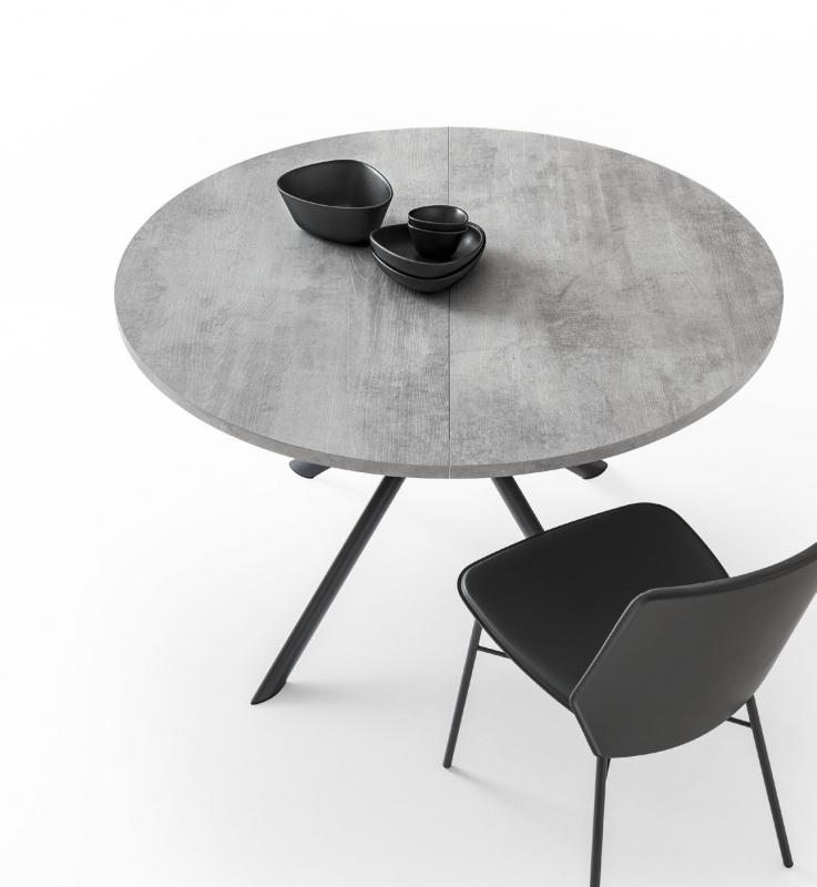 Стол CONNUBIA/Calligaris - модель GIOVE Wood Ø120 (+45) ламинат BETON