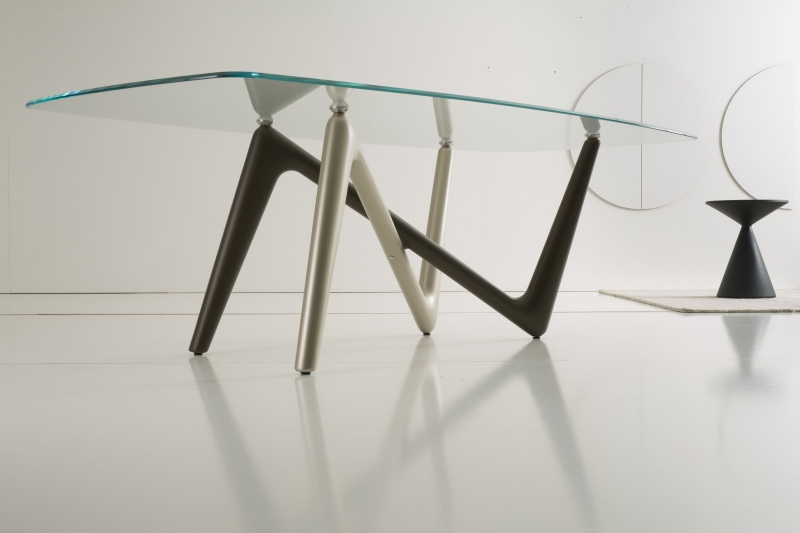 Стол COM.P.AR - модель ESSE Glass 220 x 110 Fisso