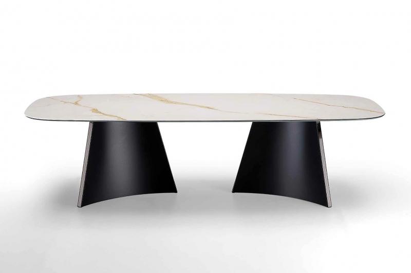 Стол MIDJ - модель CONCAVE 300x120 Сeramica Marmo Calacatta