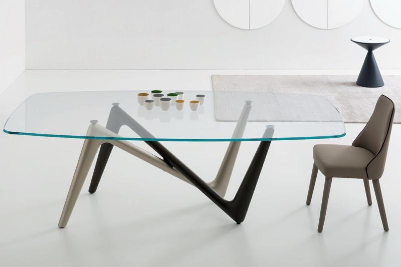 Стол  COM.P.AR - модель ESSE Glass Ovale 240x120