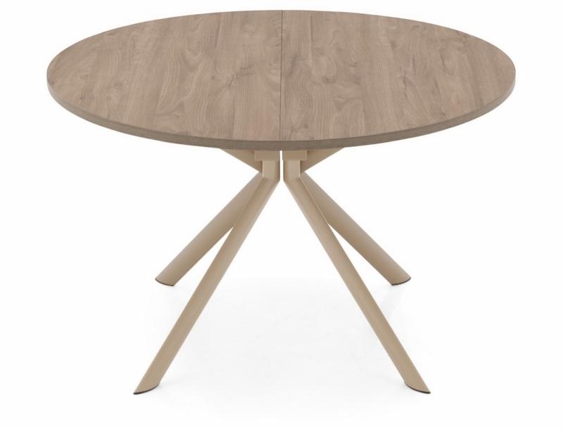 Стол CONNUBIA/Calligaris - модель GIOVE Wood Ø120 +45 (165x120) Deco Nougat