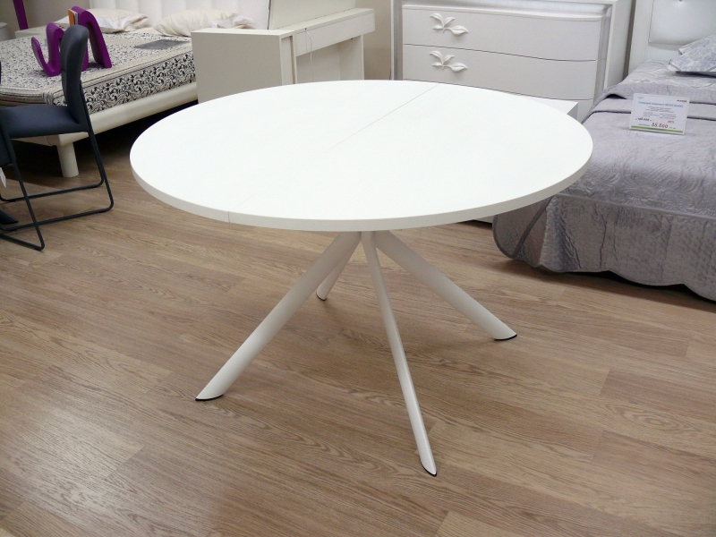 Стол CONNUBIA/Calligaris - модель GIOVE Wood Ø120 +45 (165x120) WHITE