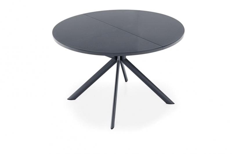 Стол CONNUBIA/Calligaris - модель GIOVE Ø120 +45 (165x120) ceramic Stone Grey