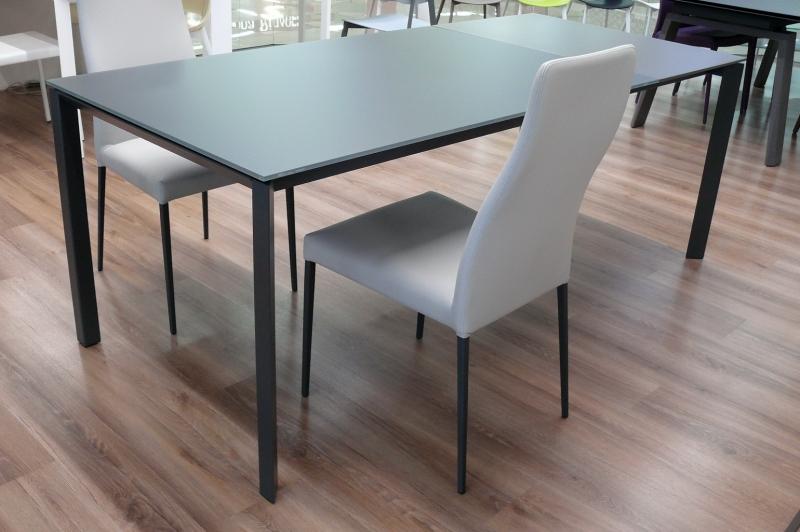 Стол MIDJ - модель KLASS 140(+60) х 90 стекло Antigraffio