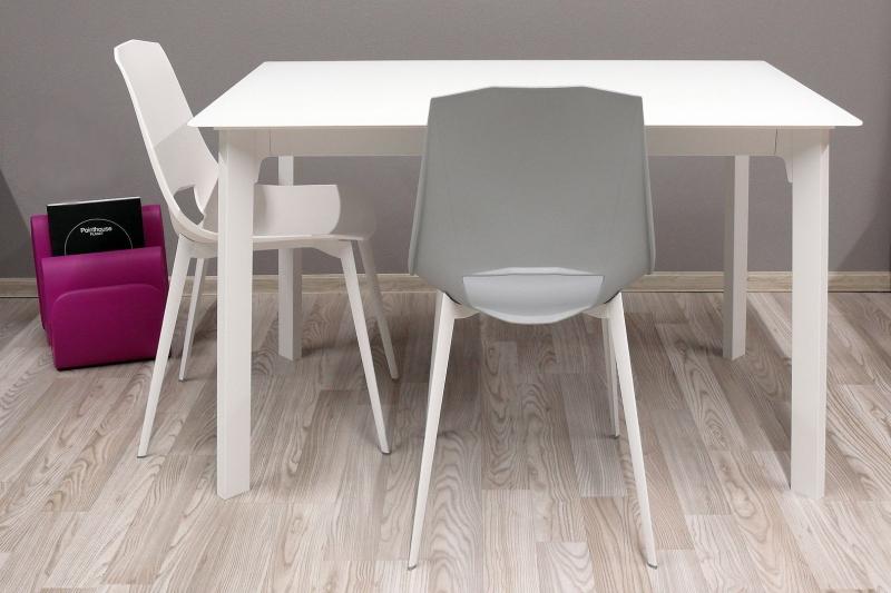 Стол POINTHOUSE - модель KRONO 120(+40) х 80 матовое стекло