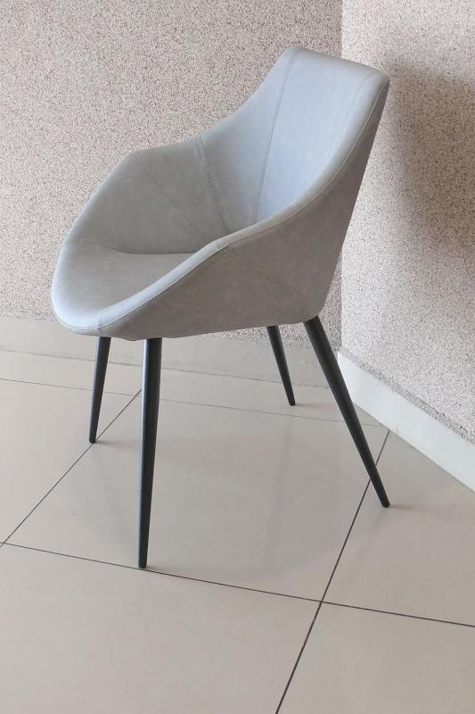 Стул-кресло COM.P.AR - мод. ROSY эко-набук Grigio Chiaro