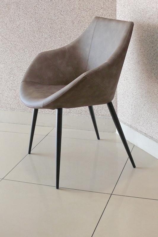 Стул-кресло COM.P.AR - мод. ROSY эко-набук Marrone