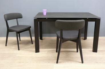 Стол CONNUBIA/Calligaris - модель BARON Ceramic OXIDE BLACK 130(+60) x 85