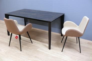 Стол MIDJ - модель DIAMANTE 160(+50+50) х 90 ceramic Noir Desir