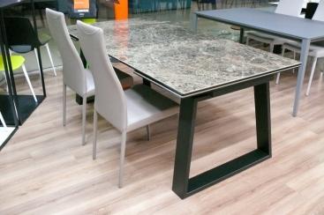 Стол COM.P.AR - модель MANGO 200(+50 +50) x 100 Ceramic Marmo Emperador