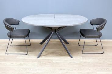 Стол CONNUBIA/Calligaris - модель GIOVE Ovale 140(+50) x 100 ceramic CEMENT