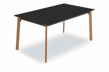Стол Pointhouse - модель OTELLO 160(+40+40) x 90 Laminato PORFIDO NERO