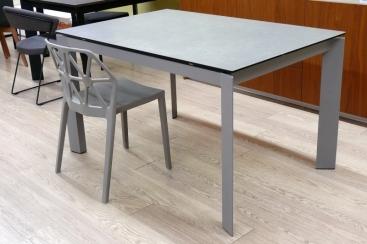 Стол CONNUBIA/Calligaris - модель BARON Ceramic LEAD GREY 130(+60) x 85