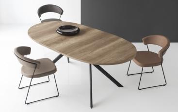 Стол овальный CONNUBIA/Calligaris - модель GIOVE-E Wood 140(+50) x 100 ламинат