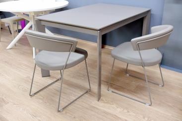 Стол CONNUBIA/Calligaris - модель BARON 130(+60)x85 FENIX NTM® TAUPE