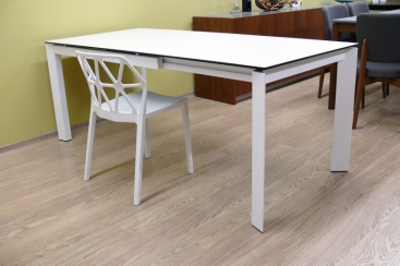 Стол CONNUBIA/Calligaris - модель BARON Ceramic 130(+60) x 85 White