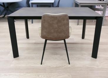 Стол MIDJ - BLADE 140 (+60) X 90 Ceramic CORTEN/Frassino Nero