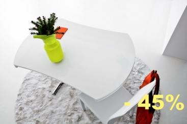 Стол-трансформер COM.P.AR - модель SIMPLE Round Ø120 х 83 матовое стекло