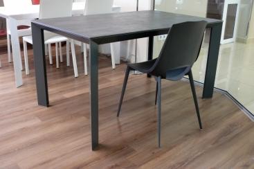 Стол POINTHOUSE - модель DIAMANTE 140(+60) X 90 Laminato CLEAF Beton Grafite
