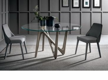 Стол  COM.P.AR - модель ESSE Glass/Ceramic Round Ø130