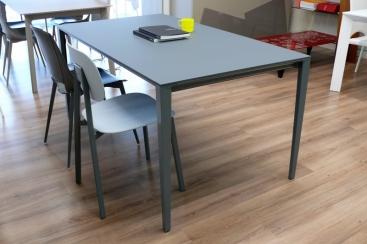 Стол POINTHOUSE - модель FUSION 160(+60) х 90  FENIX NTM® Grigio Opaco