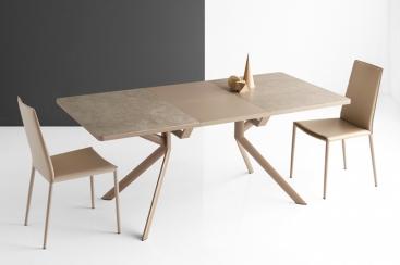 Стол прямоугольный CONNUBIA/Calligaris - мод. GIOVE-R 130(+50) x 90 ceramic NOUGAT