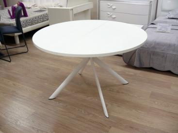 Стол CONNUBIA/Calligaris - модель GIOVE Wood Ø120 +45 (165x120) WHITE