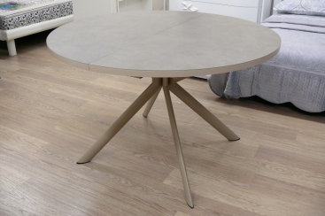 Стол CONNUBIA/Calligaris - модель GIOVE Ø120 +45 (165x120) ceramic Nougat