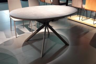 Стол овальный CONNUBIA/Calligaris - модель GIOVE Ovale 140(+50) x 100 ceramic