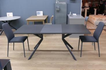 Стол прямоугольный CONNUBIA/Calligaris -  GIOVE-R 130(+50) x 90 ceramic STONE GREY