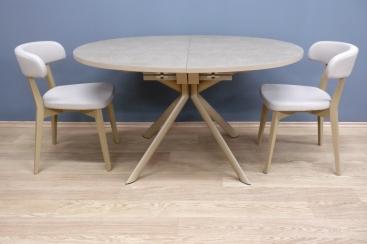Стол овальный CONNUBIA/Calligaris - модель GIOVE-E 140(+50) x 100 ceramic NOUGAT