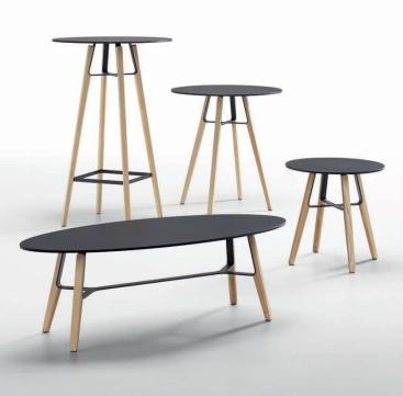 Стол кофейный MIDJ - модель LIU Н.40 /Н.50
