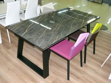 Стол COM.P.AR - модель MANGO 200(+50 +50) x 100 Ceramic Noire Desire