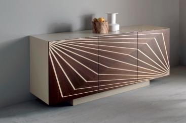 Креденс-буфет COM.P.AR - модель OPTIK Sabbia/Noce Canaletto