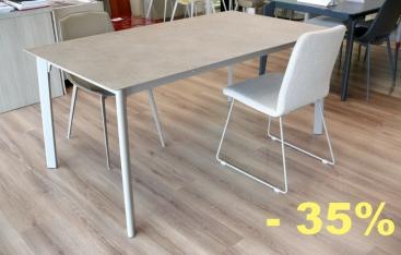 Стол Pointhouse - модель OTELLO 160(+40+40) x 90 Laminato PORFIDO TABACCO