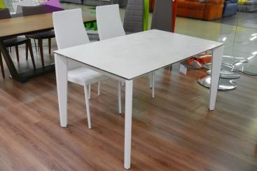 Стол MIDJ - модель DIAMANTE 140(+50) х 90 ceramic Oxide Bianco