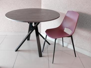 Стол круглый VARO - модель POINT Ø105  CLEAF Beton Grafite