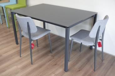 Стол MIDJ - модель MORE 140(+60) х 90 стекло Antigraffio