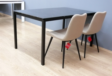 Стол MIDJ - модель MORE 140(+60) х 90 ceramica MARMO GRECO NERO