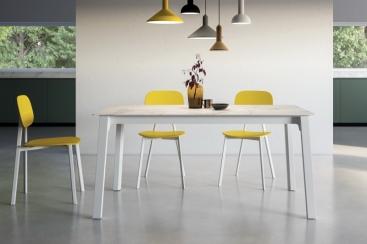 Стол POINTHOUSE - модель QUADRO 140(+40) х 90 LAMINATO CLEAF