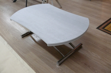 Стол-трансформер COM.P.AR - модель SIMPLE Round Ø120 х 83 ceramic Savoia