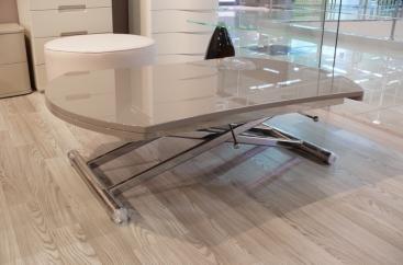 Стол-трансформер COM.P.AR - модель SIMPLE Round Ø120 х 83 Lava Lucido