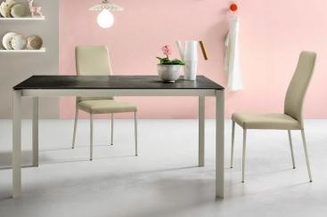 Стол MIDJ - модель KLASS 120(+50) х 80 Ceramic PIOMBO