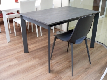 Стол POINTHOUSE - модель ZEN PLUS 120(+40) x 80  CLEAF Beton Grafite