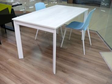 Стол POINTHOUSE - модель ZEN PLUS 140(+40) x 80 laminato Quercia Bianco