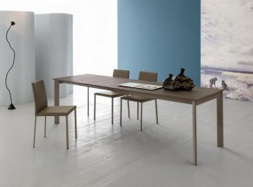 Стол POINTHOUSE - модель ZEN Plus 120(+40) x 80 melaminico Rovere Grigio